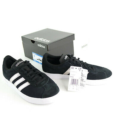 Adidas Womens VL Court 2.0 Black Skateboarding Shoes Size 7 Medium New