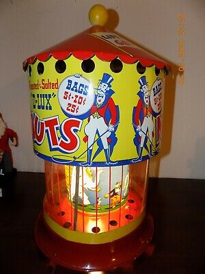 VTG 1950's Big Top Circus Lighted PEANUT Motion Lamp Warmer (Reduced OFFER !)(B)