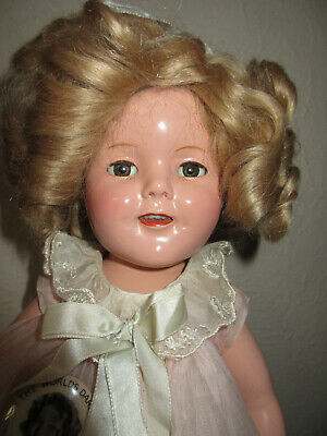 "Vintage 1930s 16"" Compo Ideal All Original Shirley Temple Doll w Clear Eyes"