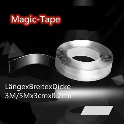 5 Meters Magic Tape Waschbares Klebeband Doppelseitiges Nano Invisible Gel Tape