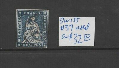 Switzerland #37 used  CV $32.50