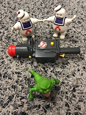 ghost busters vintage toys marsh mellow man , slimmer zapper and