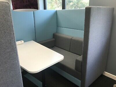 Boss Meeting pod / Breakout booth 4 Person with Table & Electrical Supply