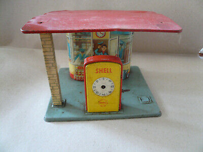 Blechspielzeug Shell Tankstelle  , Made in Western Germany
