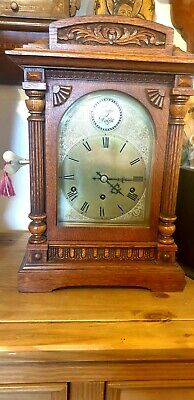 Antique Musical Bracket Clock Quarter Striking Westminster 8 Day Mantel Clock