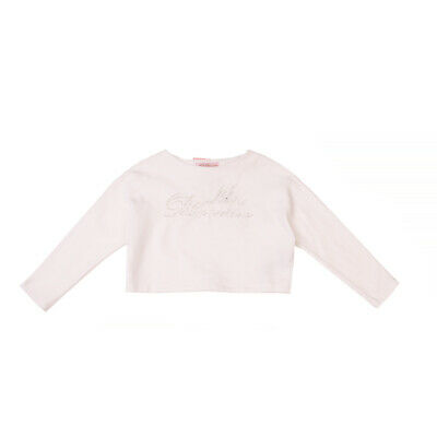 RRP €140 MISS BLUMARINE Sweatshirt Size 6Y Embellished Loose Fit Made in Italy