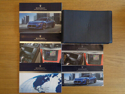 Maserati Granturismo Sport Owners Handbook Manual and Pack