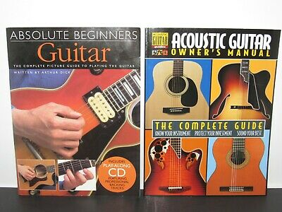 Book Lot Absolute Beginners Guitar By Arthur Dick + Acoustic Guitar Owners Guide