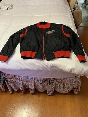 Vtg 1990 THE MIRAGE BOXING Reversable JACKET HOLYFIELD vs DOUGLAS Pre-owned XL