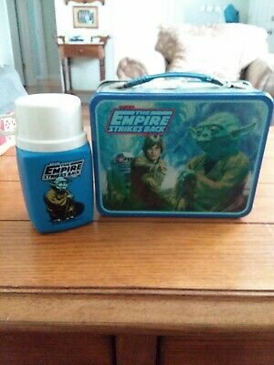 Vintage 1980 STAR WARS Empire Strikes Back Metal LUNCH BOX with Thermos