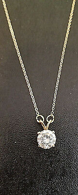 14k Yellow Gold CZ Necklace Lot AA