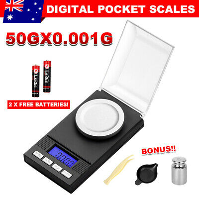 Electronic Jewellery Pocket Digital Scales High Precision Milligram  0.001g50g