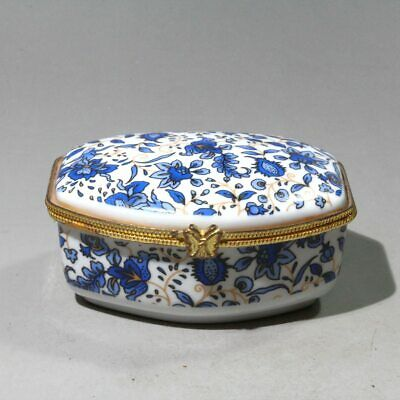Collectable China Porcelain Painting Flower Delicate Beautiful Noble Jewelry Box