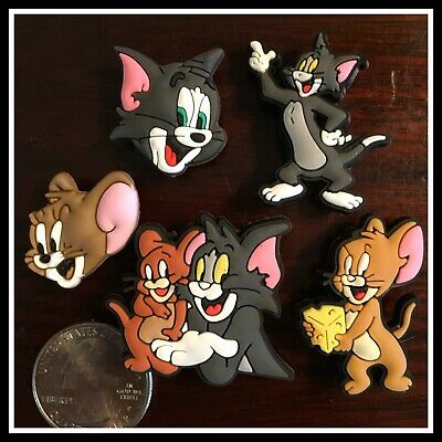5 Shoe Charms for Crocs TOM AND JERRY Classic Cartoon TV Show Cat & Mouse