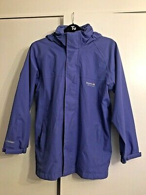 Girls Regatta Purple Light Weight Hood Rain Waterproof Coat Kids Size 11/12 Year
