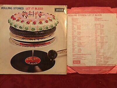 The Rolling Stones Let It Bleed LP 1969 Mono Decca Red Label printed red inner