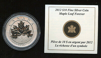 2012 Canada Pure Silver $10 - Maple Leaf Forever - SALE