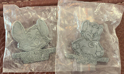 """Chuck E Cheese """"I Made Every Guest Leave Happy!"""" 2012 And 2013 Pins"""