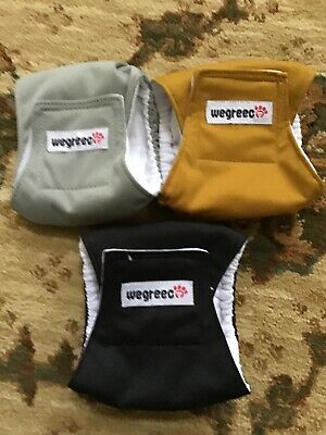 Nwot Wegreec Male Dog Diaper Lot Of 3 Sz Xxs