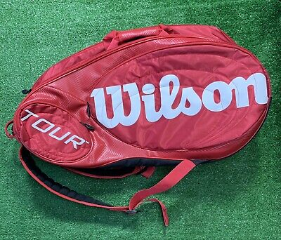 Wilson Tour Bag, Tennis Racquets Backpack Red XL