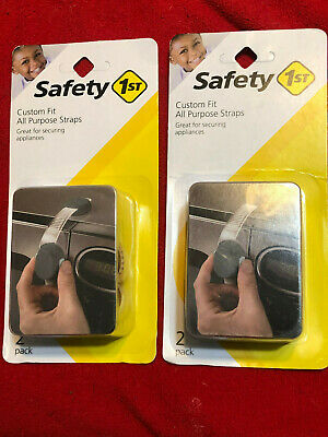 2 packs Safety 1st 2 Pack Custom Fit All Purpose Strap - 4 pcs total