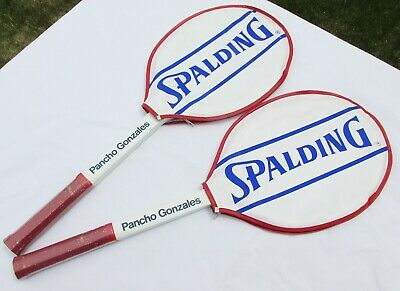 New (old stock) Spalding Pancho Gonzales Matching Pair Vintage Tennis Racquets