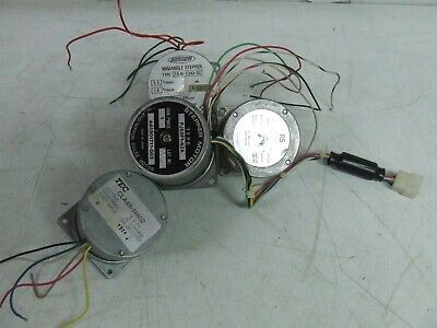 LOT OF 4 ELECTRIC MOTORS STEPPER *Tested & Working*