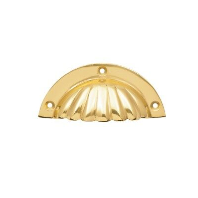 Prestige Brass Shell Cup Drawer Pull Handle