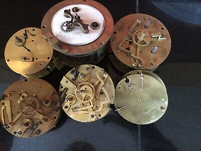 antique french clock movement For Spares Only 6 Off