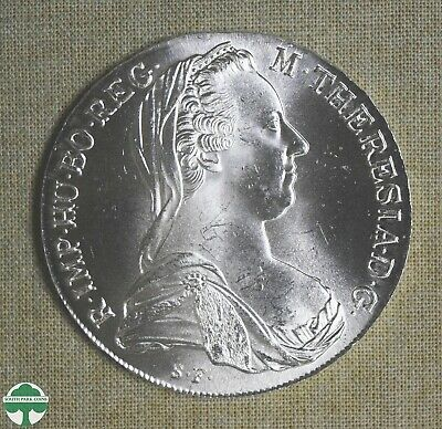 1780 Austria Thaler - Maria Theresa Restrike - Bu - Actual Silver Weight: .7515