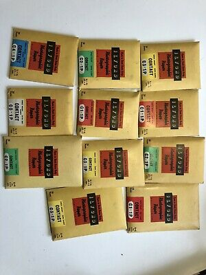 11 X Ilford Vintage Contact Photographic Paper Opened