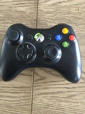 Xbox 360 wireless controller black, original genuine Microsoft Tested