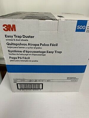 """3M Easy Trap Duster Sweep And Dust Sheets, 5"""" x 6"""" x 125', 2 Rolls, 500 sheets"""