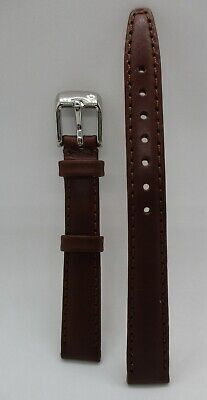 Genuine Leather Brown Watch Strap 12Mm