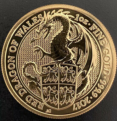 2017 1oz Gold Wales Red Dragon