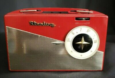 Portable Tube Radio Sterling LS-4 Bright Red - Looks So Cool for a Portable Tube