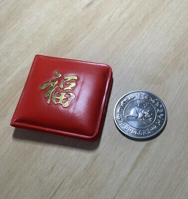 1984 Singapore $10 Rat Unc Silver In Red Wallet