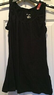 Women's Merona Black Sleeveless Top Size Medium New With Tags