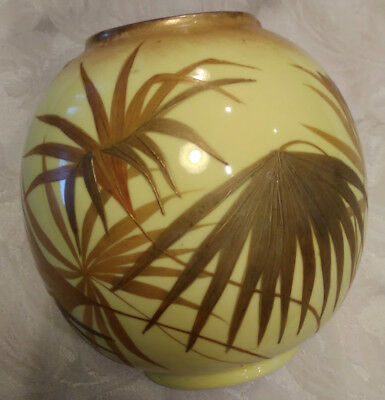 Jones Crescent and Sons china England vase yellow vase bamboo plant