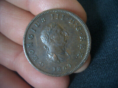 George Iii  Half Penny Coin Dated 1807 From A Collection Find