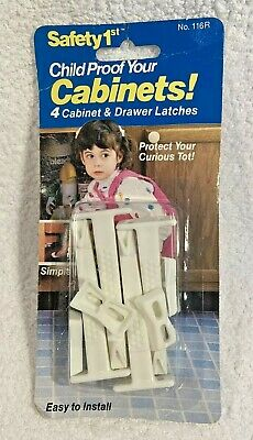 Vintage Safety 1st Child Proof Your Cabinets & Drawer Latches - Still Sealed