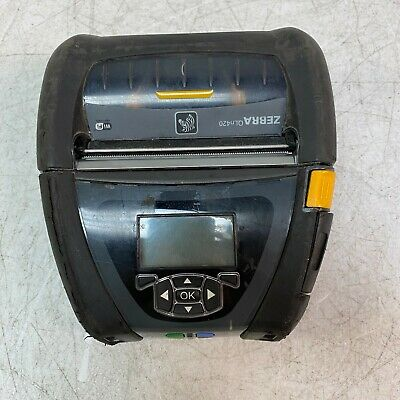 Zebra QLn420 Portable Thermal Label Printer Tested and Working No Battery