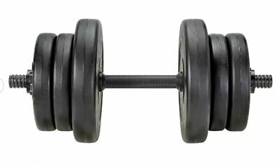 20kg Opti Vinyl Adjustable Dumbbell set. *New* Weightlifting Gym Fitness Weights