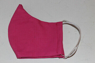 Womens Fabric Cotton Face Mask Pink Reuseable Washable Made in Canada