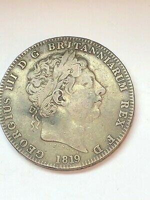 1819  GOERGE III  Great Britain Double Florin  SILVER EARLY SEE THE PICTURES