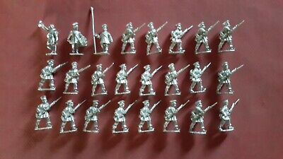 25-28Mm Wargames Foundry Prussian Napoleonic Landwehr Advancing