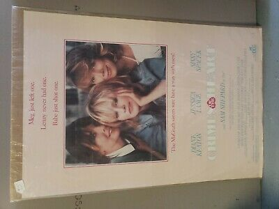 Crimes Of The Heart (1986) Original Movie Poster  -  Rolled