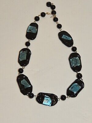 Vintage Dichroic Glass Bead Necklace