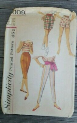 Sale! Vintage Simplicity Sewing Pattern: Teen Pants And Shorts (Sz 10) #4009
