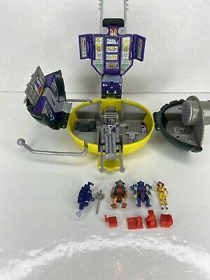 Vintage TMNT Mini Mutant Carry Along Communicator playset with accessories